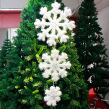 Pack of 3 White Foam Fantasies Snowflake Christmas Tree Ornaments Home Decor 2018 Christmas Tree Hanging Ornament Handicrafts(China)