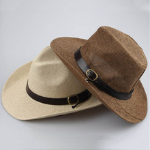 metting joura Cowboy  hat Sir  straw hat  for men and women summer beach hat