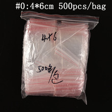 500PCS 4x6cm Convenient PE Transparent Plastic Bag Gift Packaging Bags For Rings Earrings Jewelry Mini Ziplock Storage