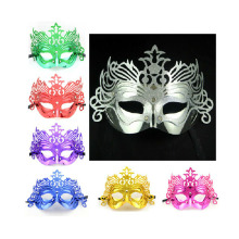High quality 10pcs/lot  fashion mask gold shining plated party mask wedding props masquerade mardi gras mask 8 colors choose