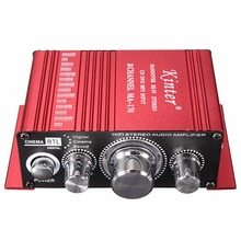 Mini 2CH Hi-Fi Digital Auto Car Stereo Amplifier Sound Mode Audio Music Booster Support DVD CD MP3 Input for Car Motorcycle Home