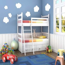Clouds Make A Blue Sky For Your Room Vinyl Wall Art Decals Lovely nursery Wall Sticker Kids Rooms kindergarten Decor(China)