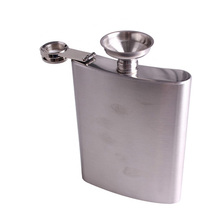 Portable 18oz/10 oz Stainless Steel Hip Flasks Liquor Whisky Alcohol Flask with Screw Cap Funnel Cap