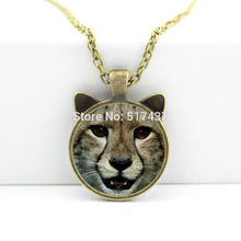 CN-00110 2017 New Little Tiger Pendant Cute Tiger Face Necklace Jewelry Man Fashion Bronze Pendant Necklace