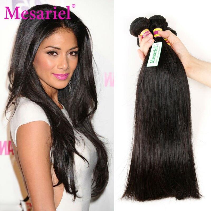 Malaysian Virgin Hair Straight 4 Bundles Mesariel Malaysian Human Hair Bundles 9A Unprocessed Virgin Hair Malaysian Straight <br><br>Aliexpress