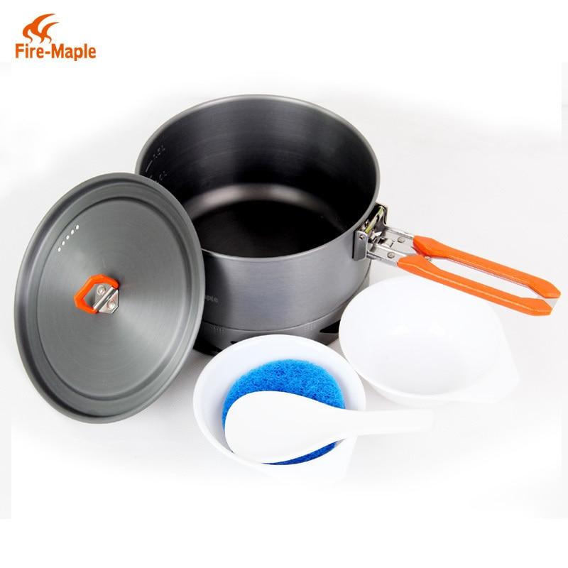 Fire Maple K2 338g 1.5L Camping Cookware Heat-collection Heat Exchanger Pot Soup Pot Cooking Pot Set<br><br>Aliexpress