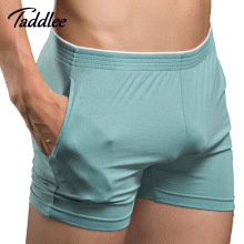 Taddlee Brand Sexy Men Underwear Boxer Shorts Mens Trunks Man Cotton Underwear High Quality Home Sleepwear Underpants New(China)