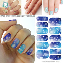 snowflake nail art supplies Water Transfer Foils Stickers nails tool Manicure Waterproof Stickers Gradient Decals Wholesale