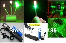 high power Military 5000mw Strong power green laser .Ture power Green laser pointer, burning matches burn cigarettes+changer+gif