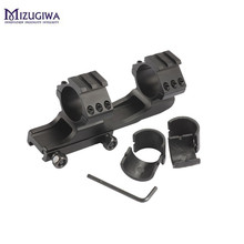 1PC Mizugiwa Scope Mount 25.4mm 30mm Dual Ring Cantilever Heavy Duty Picatinnywith 20mm/11mm Weaver Rail Hunting Caza Black(China)