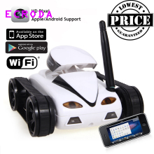 ECRODA 2017 HOT SALE Wifi Camera Remote Control Tank Mini i-Spy 4CH RC Tank Controlled by IPhone/iPad/Android/IOS Best Gift Toys(China)