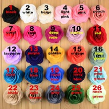 DHL Free shipping, 300 pcs/lot,3.5 inch Rose Fabric Flower for Headbands,Baby Girls Pageant Bridal Hair Accessory(China)