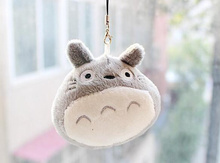 Kawaii Plumpy MY Neighbor TOTORO 7*6CM Plush Stuffed TOY Phone Strap DOLL ; Gift TOY BAG Pendant TOY Wedding Bouquet Gift DOLL