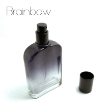 Brainbow 100ml Black Glass Perfume Bottle Portable Empty Refillable Bottle Traveler Spray Atomizer Perfume Bottle+Small Funnel