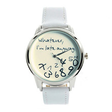 Women Watch 2015 New Whatever,I'm Late Anyway & Numbers Cleanly Styled Dia Classic Leather Band Watch