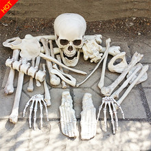Bag of Bones Halloween Skeleton Bones 28pieces in a mash bag Haunted House Escape Horror props Decorations(China)