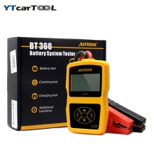 AUTOOL BT360 12V Digital Car Battery Tester for Flooded GEL BT-360 12 Volt Automotive Battery Analyzer CCA Multi-language