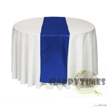 20pcs/lot Beatiful Royal Blue Table Runner Wedding Table Decorations Party Table Cover