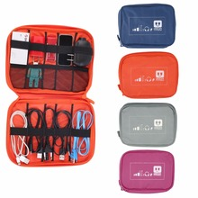 OUTAD Fashion Earphone Data Cables USB Flash Drives Travel Case Digital Electronic Accessories Storage Bag Pouch