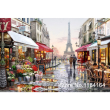 Diy Diamond Embroidery Cross Stitch Eiffel Towel square Full Diamond Mosaic Picture Pasted Needlework Decor BK-2136