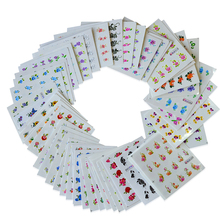 50Sheets Mixed Flower Pattern Watermark Nail Decals Nail Art Water Transfer Stickers DIY Decor Beauty Accessories BE1051-1100