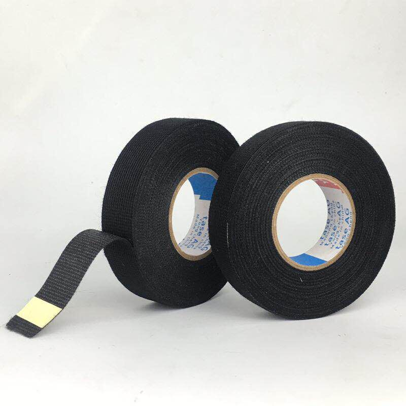 Black Adhesive Cloth Fabric Tape Cable Looms Wiring Harness 15m x 9mm x 0.3mm