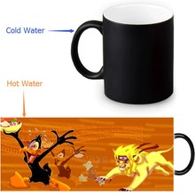 350ml Daffy Duck Color Transforming Mugs Coffee Milk Ceramic Morphing Mug Novelty Heat Changing Color Tea Cup(China)