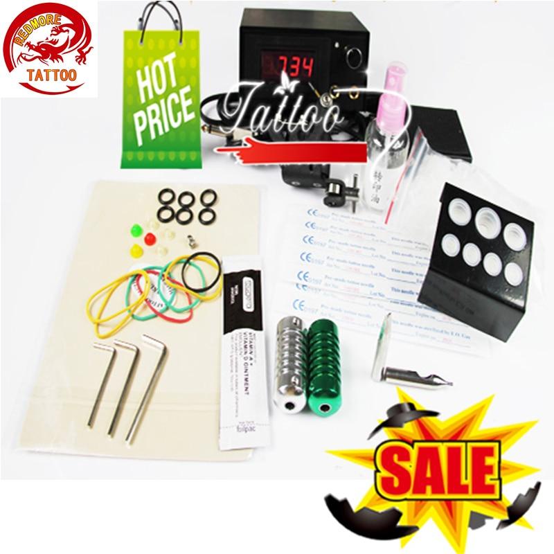 Cheap Professional Complete Tattoo Machine kit 8 wrap coils Tattoo Machine set for Beginner Body Tatto Art PTK-915-5E<br>
