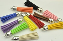 (10pcs/lot) 55mm Mix Colors Length Suede Tassel For Keychain Cellphone Straps Purses Backpacks Jewelry Charms-M7-15