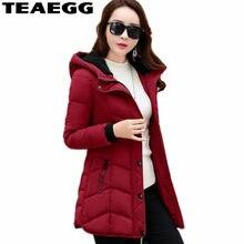 f49e08e7fac4 Teaegg хлопок мягкий цвет красного вина парка женские куртки Chaqueta Mujer  с капюшоном Для женщин пальто