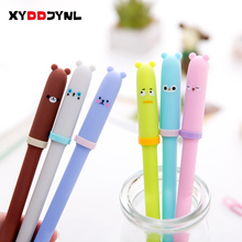1pc Korea Cartoon Animal Expression Gel Pen Student Writing Signature Pen Black Ink Office Stationery Supplies(China)
