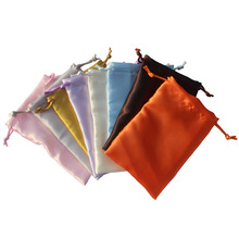 10*15cm/4*6inch one line soft satin drawstring bag gift packaging wedding pouch many color 50pcs/lot  customize size & logo
