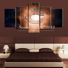 Newly Designed Modern Home Artwork Poster UK Picture basketball Canvas Unframed Popular Team 5pieces Painting Bedroom Ball