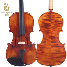 High Grade FineLegend 4/4 Full Size Handmade Alcoholic Paint Professional Violin Solid Spruce Flamed Maple with Bow Case LCV3113
