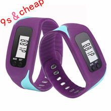 Digital LCD Pedometer Run Step Walking Distance Calorie Counter Watch Bracelet Free Shipping #250717