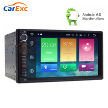 7'' Universal Quad Core Double Din New Android 6.0 Car Audio Stereo GPS Navigation Bluetooth Radio Automotive Multimedia Player