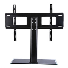 TV Wall Mount Bracket Black Glass Base Metal Shelf Bracket 37-55 Inch LCD TV Stand Mount Bracket Flat Screen Wall Brackets