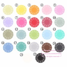 20pcs, 4.5 Inch Total 23 Colored Vintage Lace Round Paper Doilies Paper Scrapbooking Craft Doyley for Halloween Christmas #0-65(China)