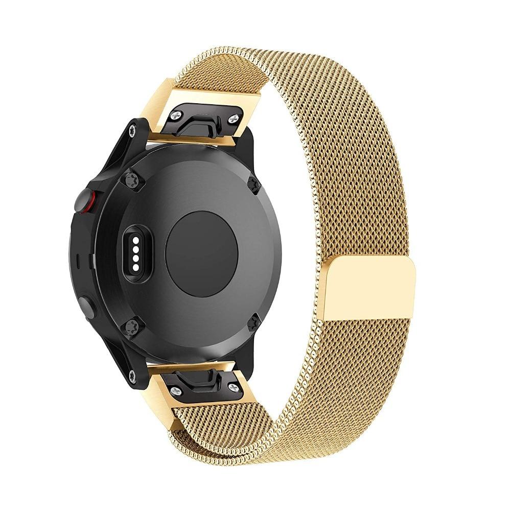 Milanese Loop Stainless Steel Mesh Replacement Bracelet Strap for Garmin Fenix 5x Fenix 3 Smart Watch Small Large 9.26 (1)