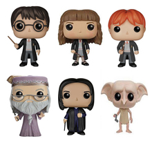 Movie Harry Potter Sorting hat Characters 10cm Vinyl Doll Figure Collection Model Toys HERMIONE Ron DOBBY DUMBLEDORE(China)