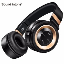 Sound Intone P6 Bluetooth Headphones Wireless with Microphone Support TF Card FM Radio Stereo Headset for PC Samsung xiaomi Sony(China)