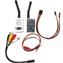 48Ch 5.8G Wireless AV Transmitter TS832 Receiver RC932 7-30v Input for FPV Car Video wifi Rearview System Tx Rx Set for aircraft