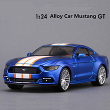 1: 26 alloy car, high simulation car model Mustang GT  , metal diecasts,freewheeling, the children's toy vehicles,free shipping