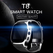 T8 Smart Watch Phone 1.54 inch IPS GSM BT V3.0 Watch with Pedometer Camera MTK6261D Sleep Monitor FM Radio Wristwatch(China)