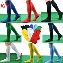 KLV New Mens Women Sports Over Knee Football Soccer Hockey Rugby Stocking Long Socks High Quality Trade Price(China)