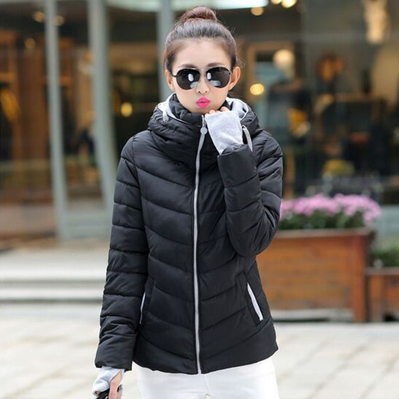 winter jacket women 2017 fashion slim short cotton-padded Hooded jacket parka female wadded jacket outerwear winter coat womenОдежда и ак�е��уары<br><br><br>Aliexpress