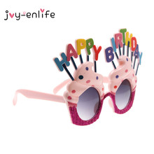 JOY-ENLIFE 1pcs Colorful HAPPY BIRTHDAY Sunglasses Eye Glasses for Birthday party Decor Summer Party Decor Photo Props Supplies