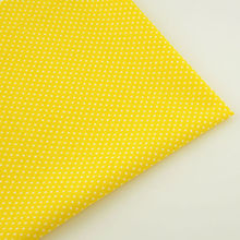 Gloden Yellow 100% Cotton Plain Fabric Lovely White Dots for Curtain Pillow Tilda Doll Patchwork Telas Tecido Tissue Art Work CM