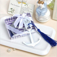 1Pc Anchor Silver Bookmark For Baptism Wedding Souvenirs Party Christening Giveaway Gift Wedding Favors and Gifts For Guest(China)