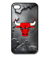 Wholesale and retail Chicago Bulls logo Basketball fans lovers  Case black Cover for iphone 4 4s 5 5s 5c 6 6 plus